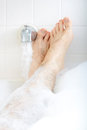 Soaking In The Bathtub. Stock Image - 34266961