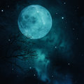 Full Moon On The Skies Stock Photography - 34268992
