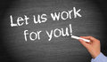 Let Us Work For You Stock Photo - 34283900