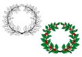 Holly Christmas Wreath Royalty Free Stock Photos - 34285478