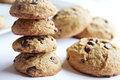 Guilt Free Chocolate Chip Cookie Stack Royalty Free Stock Image - 34296316