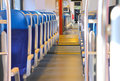 Rows Of Seats In A Train Car. Royalty Free Stock Images - 34296749