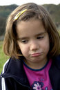 Sad Little Girl Royalty Free Stock Photography - 3433137