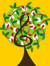 Music Cherry Notes Tree Royalty Free Stock Photography - 3438817