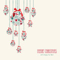Merry Christmas Hanging Elements Decoration Compos Stock Image - 34309261