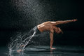 Male Dancer Under Rain Stock Images - 34315864