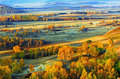 Dam Autumn In Inner Mongolia Royalty Free Stock Photography - 34339707