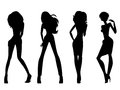 Fashion Model Silhouettes Royalty Free Stock Photography - 34340867