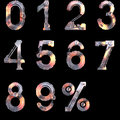 Iron Mechanical Numbers From Zero To Ten Stock Photography - 34341162