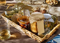Fish Cans And Tuna, Octopus, Anchovies, Mussels Canned In Glass Stock Images - 34341694