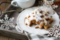 Ginger Shortbread Biscuits On A Plate, Christmas Parties Stock Photos - 34347143