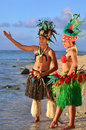 Young Polynesian Pacific Island Tahitian Dancers Couple Stock Photos - 34350113
