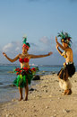 Young Polynesian Pacific Island Tahitian Dancers Couple Stock Images - 34350614