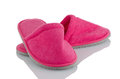 A Pair Of Pink Slippers Royalty Free Stock Images - 34352179