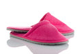 A Pair Of Pink Slippers Royalty Free Stock Photo - 34352185
