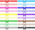 Collection Of Eighteen Polka Dot Bows With Ribbons Royalty Free Stock Photography - 34361977