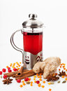 Teapot With Tea Stock Images - 34364904