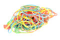 Rubber Bands On White Royalty Free Stock Photography - 34383087