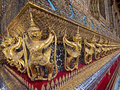 Guardian Statues Surrounding The Temple Of The Emerald Buddha Stock Image - 34383771