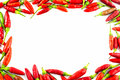 Fresh Red Pepper Border Stock Photography - 34395102