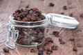 Raisins In A Glass Stock Images - 34399254