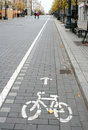 Bicycle Route Sign Stock Photos - 3445263