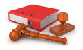 Rubber Stamp,  Wooden Mallet And Document Royalty Free Stock Image - 34405176