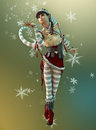 Santas Little Helper Elsie, 3d CG Stock Photo - 34407500