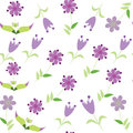Floral Seamless Pattern With Lilac Flower. Seamles Royalty Free Stock Photography - 34408717