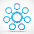 Abstract Network With Circles 3D Stock Image - 34414751
