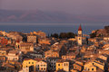 Kerkyra Town In Corfu At Sunset Royalty Free Stock Images - 34427499