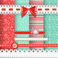 Collection For Scrapbook. Red-green Seamless And B Stock Photos - 34428303
