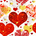 Vintage Seamless Valentine Pattern Stock Photography - 34428852