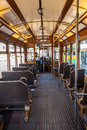 Interior Of An Old Lisbon Tram Stock Images - 34433294