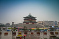 The Bell Tower In Xian Stock Image - 34435521