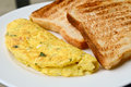 Egg Omelet With Toast Royalty Free Stock Image - 34436126