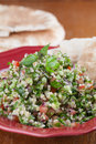 Tabbouleh With Pita Bread Stock Photography - 34445952
