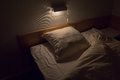 A Hotel Bed Ready To Enter Stock Images - 34449224
