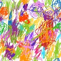 Seamless Pattern With Childish Doodles For Your Stock Photography - 34451982