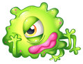 A Bored Green One-eyed Monster Royalty Free Stock Photography - 34462307