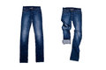 Two Blue Jeans Royalty Free Stock Photography - 34470007