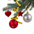 Christmas Decorations  Hanging On Fir Tree Royalty Free Stock Images - 34470929