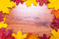 Autumnal Frame With Leaves Royalty Free Stock Photos - 34477938