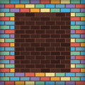 Rainbow Bricks Royalty Free Stock Photography - 34479137