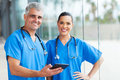 Medical Doctors Tablet Pc Stock Photo - 34481090