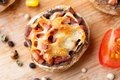 Stuffed Champignons With Ham And Cheese Stock Images - 34481394