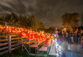 Ghostly People Looking At Pumpkins Stock Images - 34486854