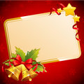 Decorative Christmas Invitation Postcard With Traditional Winter Stock Photo - 34492760