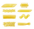Eight Different Types Of Pasta Royalty Free Stock Photography - 34494157