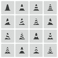 Vector Black Traffic Cone   Icons Royalty Free Stock Photos - 34496398